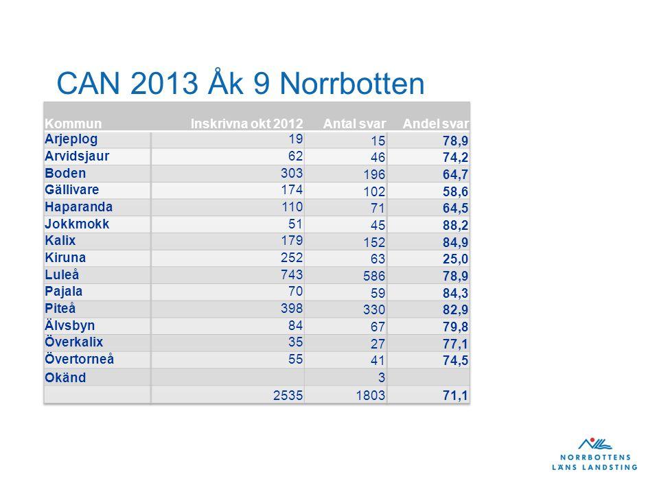 CAN 2013 Åk 9 Norrbotten