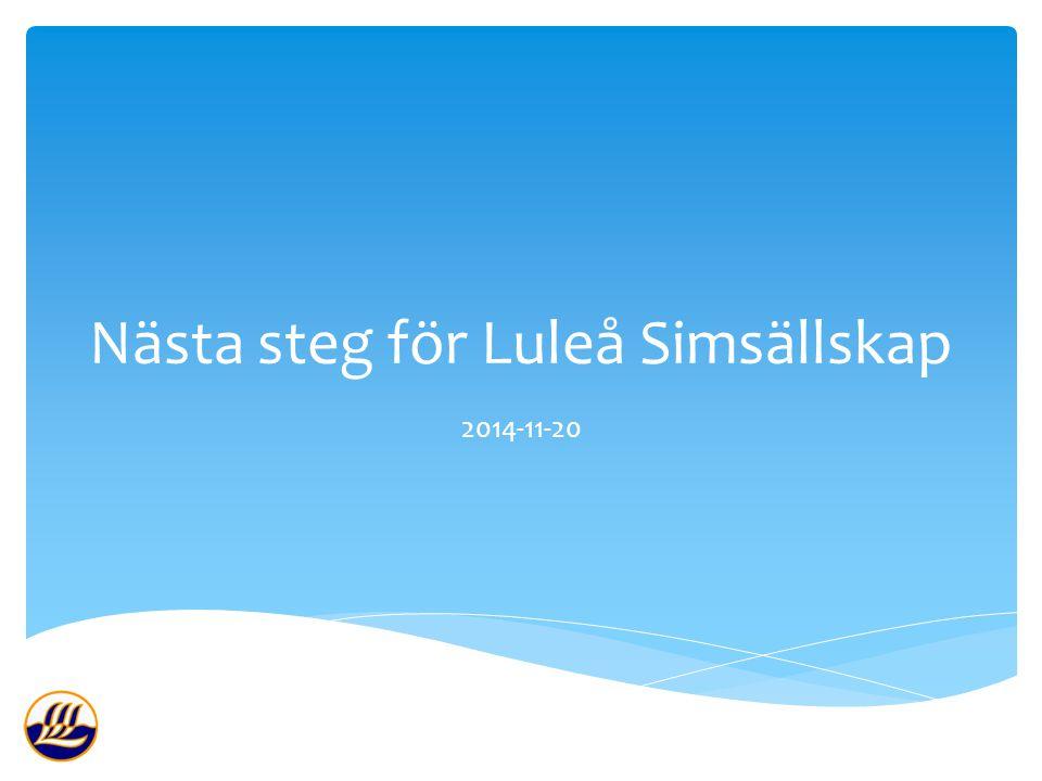 Nästa steg för Luleå Simsällskap 2014-11-20