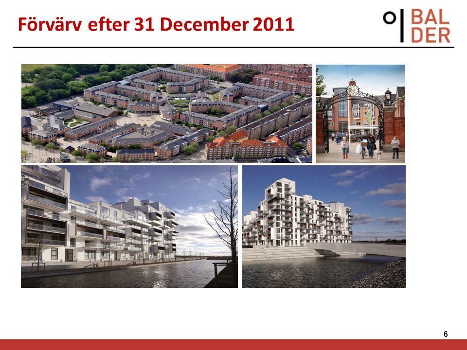 6 Förvärv efter 31 December 2011