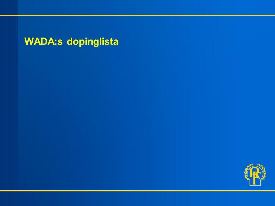 WADA:s dopinglista