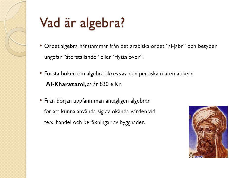 Vad är algebra.