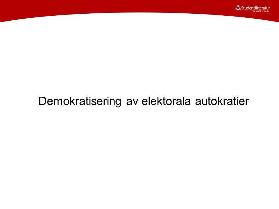 Demokratisering av elektorala autokratier