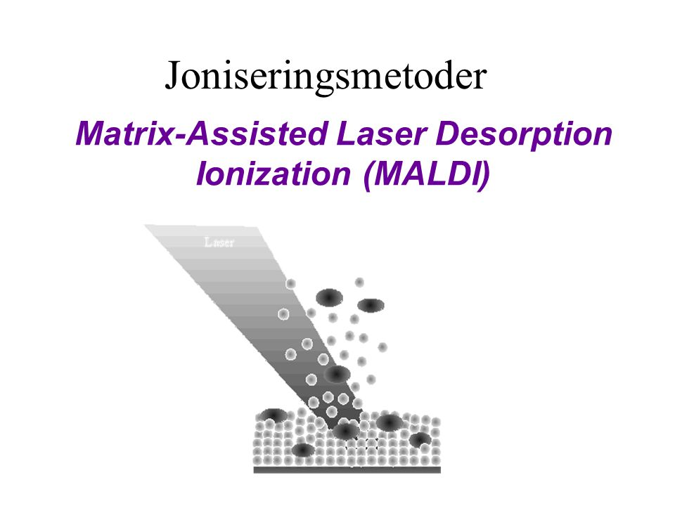 Matrix-Assisted Laser Desorption Ionization (MALDI) Joniseringsmetoder
