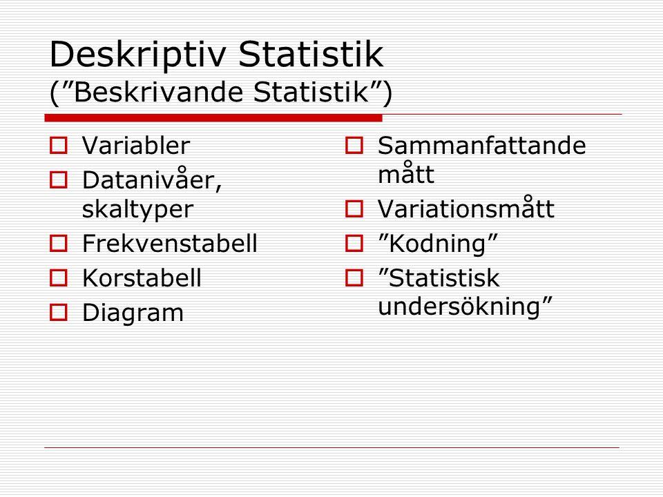 Varför statistik och alla dessa beräkningar. Svårt att hantera och samla in all data.