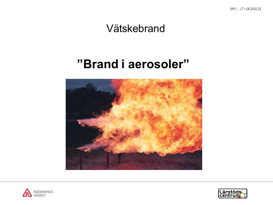 SRV - JT / LB 2002 22 Brand i aerosoler Vätskebrand
