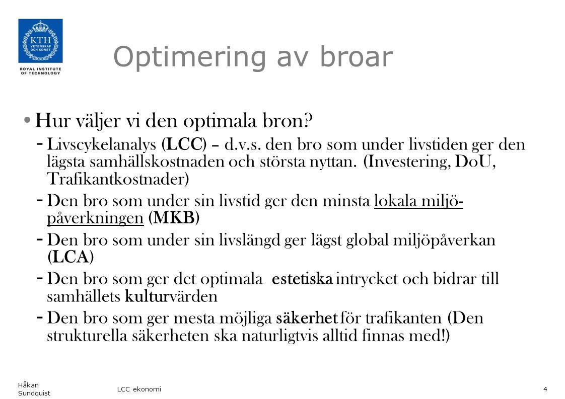 15 Division of Structural Engineering and Bridges Two design alternatives: Original design: Ballastspår Alternativ design: Slab track Redesign