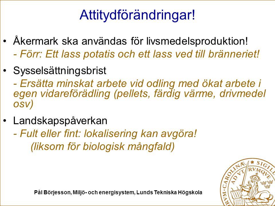 Pål Börjesson, Miljö- och energisystem, Lunds Tekniska Högskola Attitydförändringar.