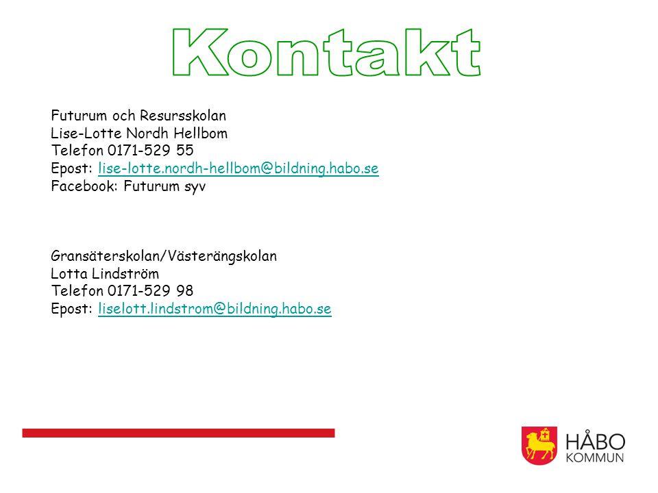 Futurum och Resursskolan Lise-Lotte Nordh Hellbom Telefon 0171-529 55 Epost: lise-lotte.nordh-hellbom@bildning.habo.selise-lotte.nordh-hellbom@bildnin