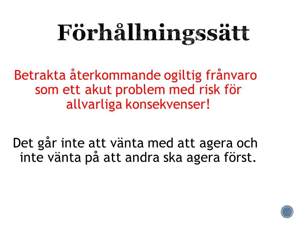  AGERA PÅ STRÖFRÅNVARO  God schemaläggning, t.ex.