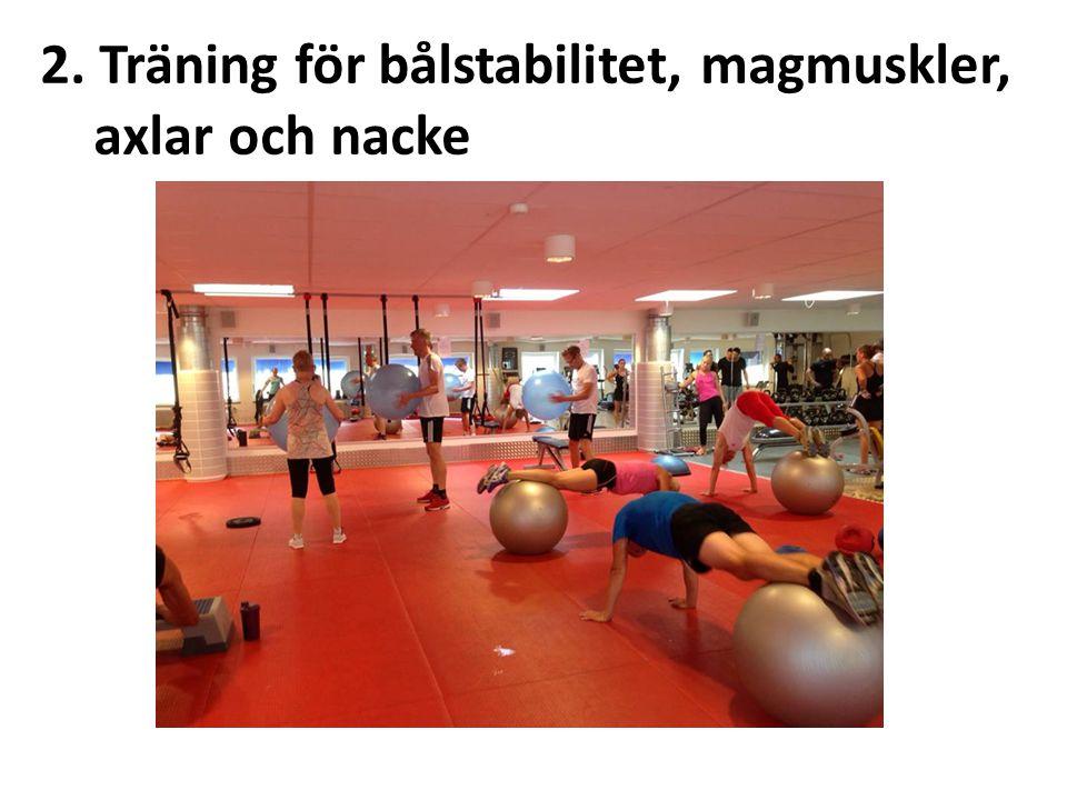 2. Träning för bålstabilitet, magmuskler, axlar och nacke
