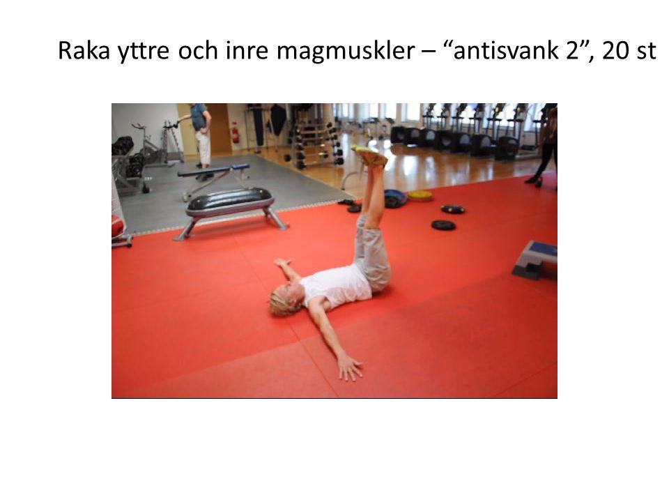 """Raka yttre och inre magmuskler – """"antisvank 2"""", 20 st"""