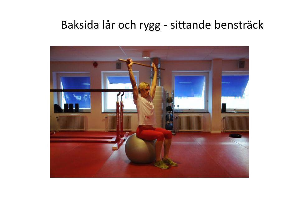Baksida lår och rygg - sittande bensträck