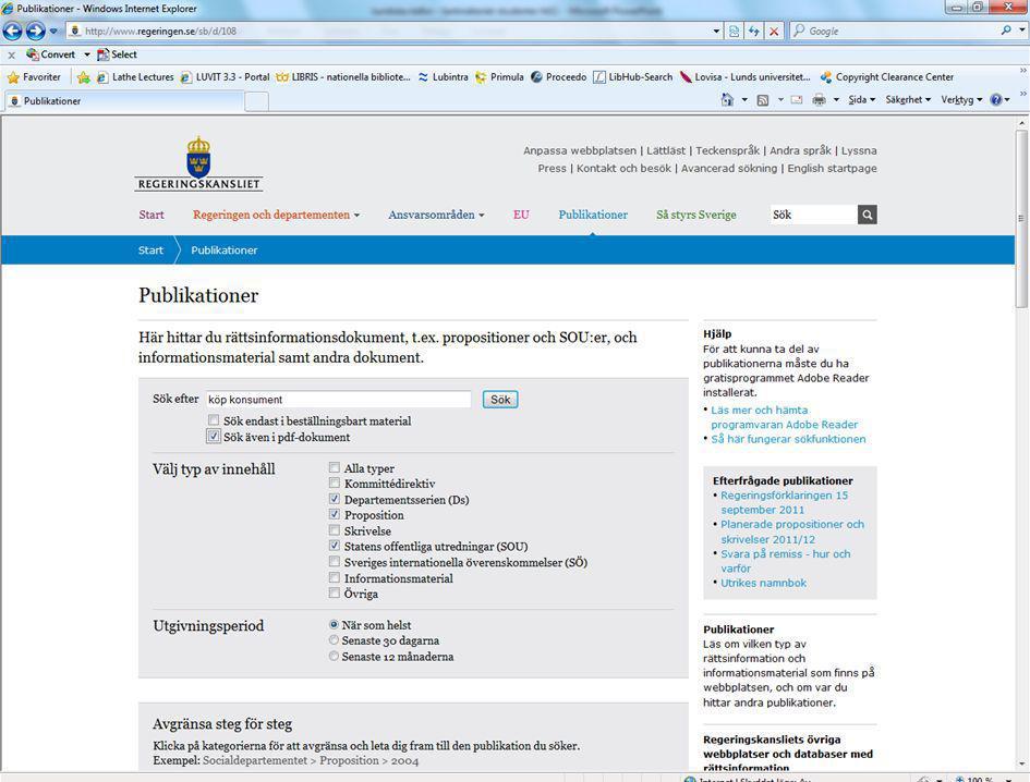 Lunds Universitet / Juridiska fakultetens bibliotek / Juridiska källor