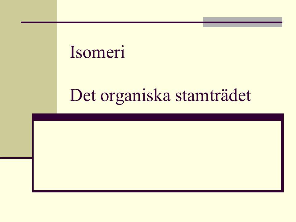 Isomeri Det organiska stamträdet
