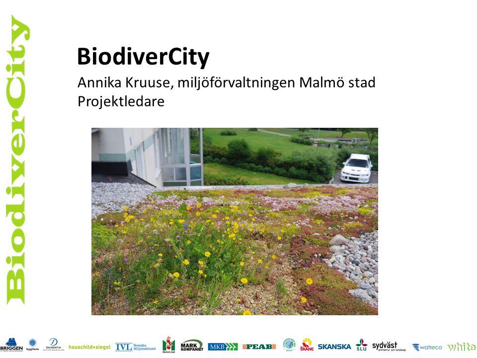 Vision En grönare, attraktivare och mer hälsosam stad med hög biologisk mångfald Mål Öka stadens biologiska mångfald Skapa produkter, tjänster och processer för grönare städer Skapa permanent demonstration för spridning av gröna lösningar