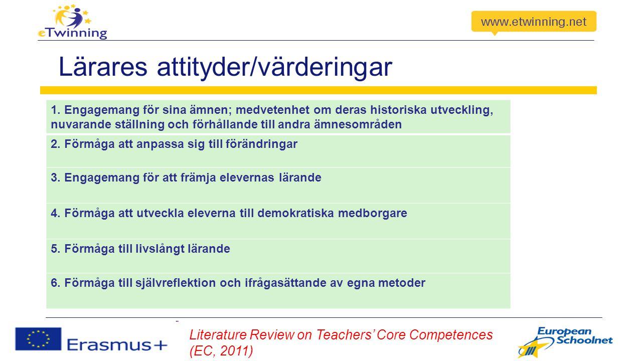 Lärares attityder/värderingar 1.