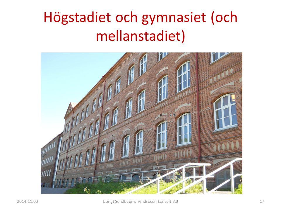 Högstadiet och gymnasiet (och mellanstadiet) 2014.11.0317Bengt Sundbaum, Vindrosen konsult AB
