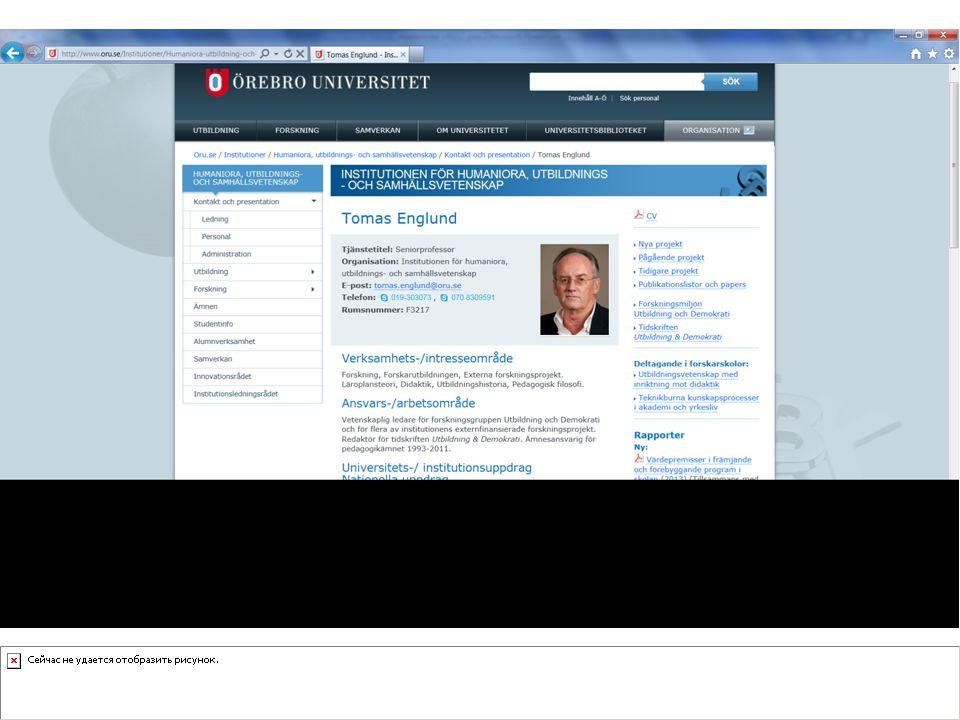 Arbetsprocessen januari - mars MånadAktivitet Januari UFN kontaktades Professor emeritus Tomas Englund, Örebro Univ.