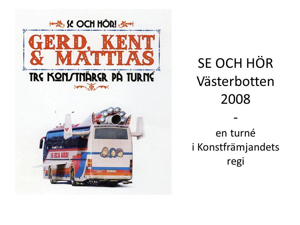 SE OCH HÖR Västerbotten 2008 - en turné i Konstfrämjandets regi