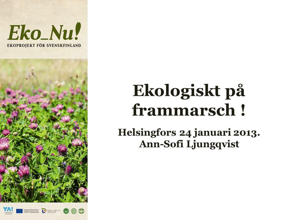 Varför ett projekt .För att möta den växande efterfrågan på ekoprodukter strävar EkoNu.