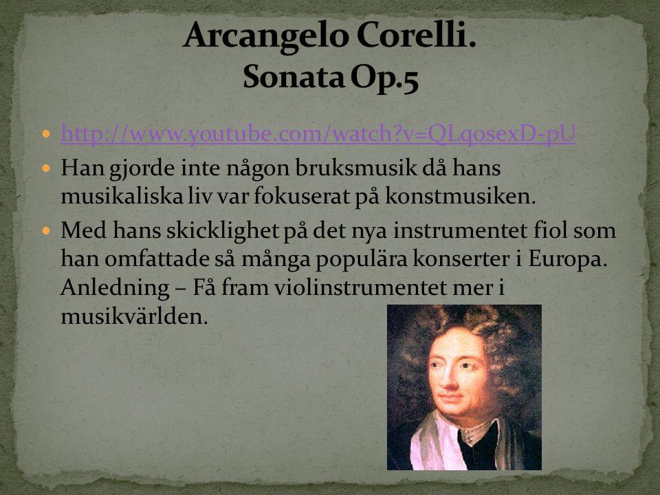 http://www.youtube.com/watch?v=QLqosexD-pU Han gjorde inte någon bruksmusik då hans musikaliska liv var fokuserat på konstmusiken. Med hans skicklighe