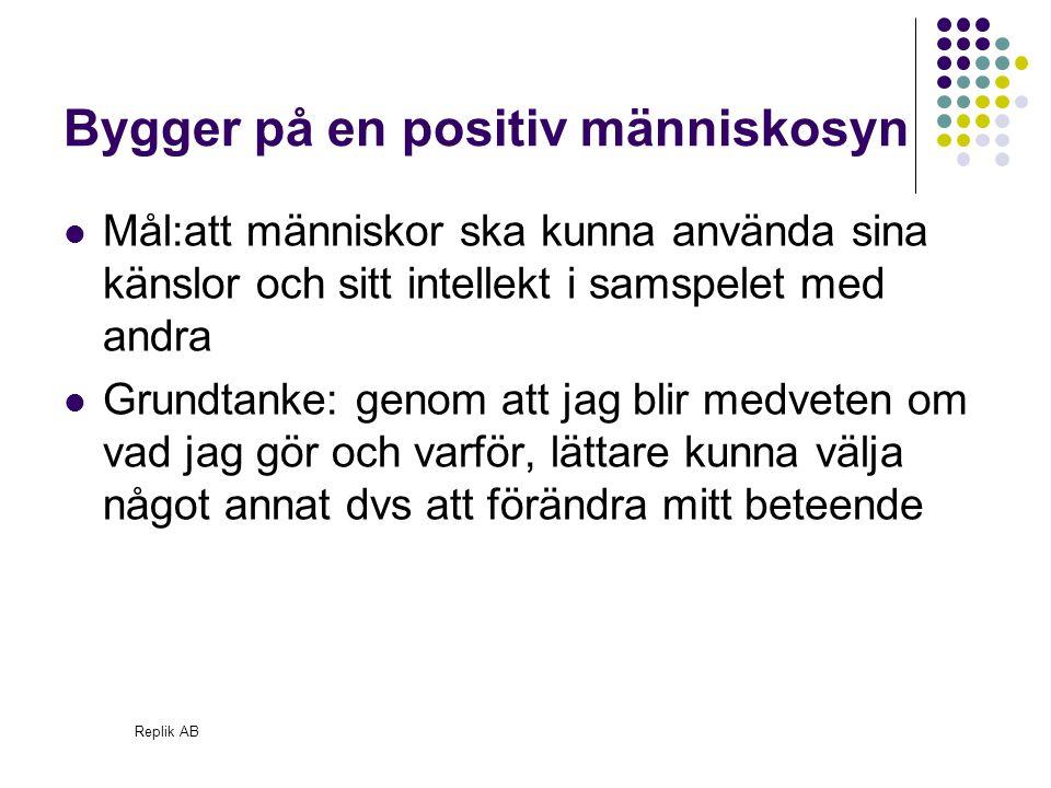 Replik AB Egotillstånd F V B F: Förälder – kritisk, moraliserande, värderande, omvårdande, tröstande, uppmuntrande, auktoritär.