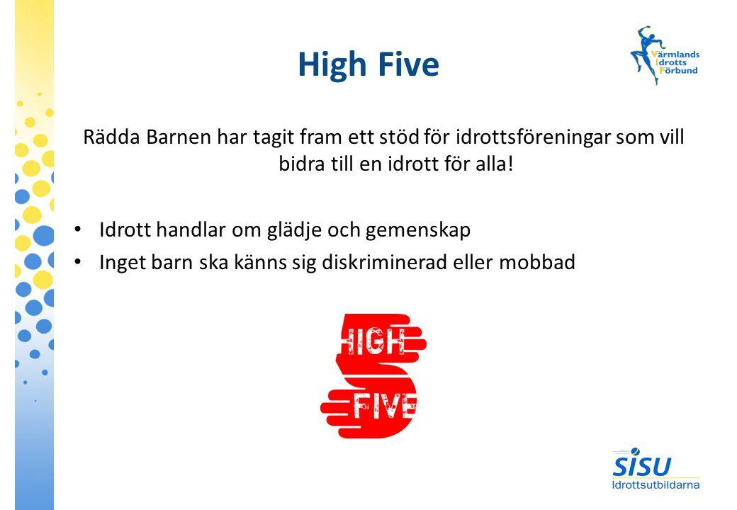 High Five Rädda Barnen har tagit fram ett stöd för idrottsföreningar som vill bidra till en idrott för alla.