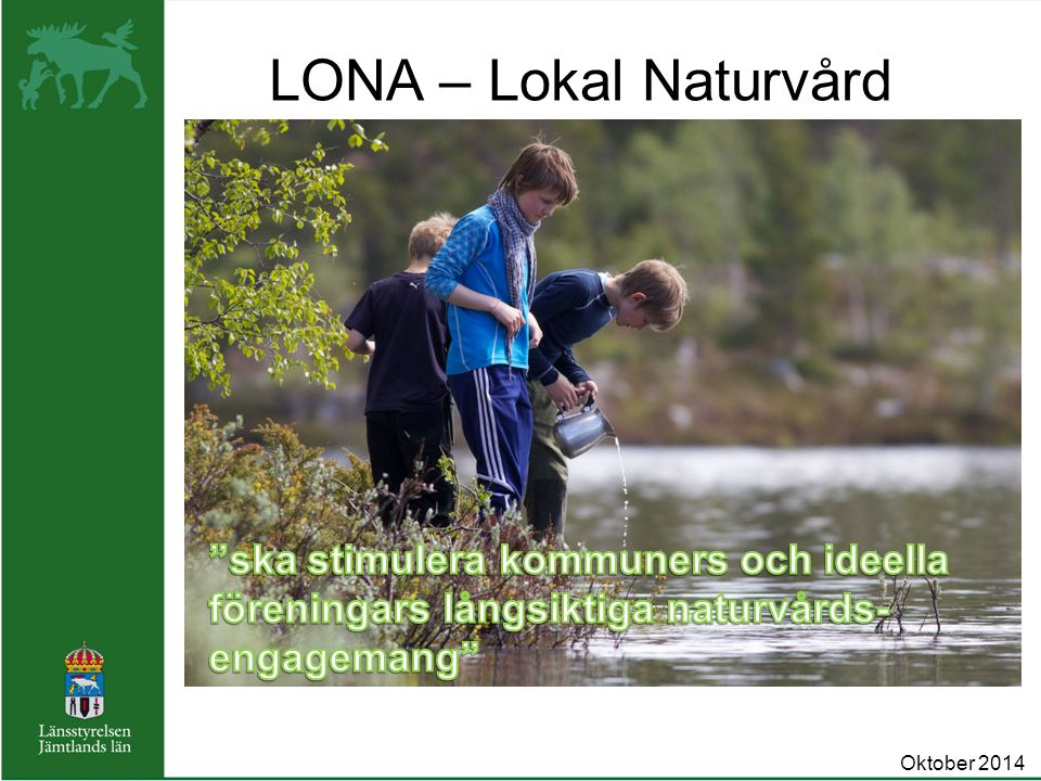 LONA – Lokal Naturvård Oktober 2014