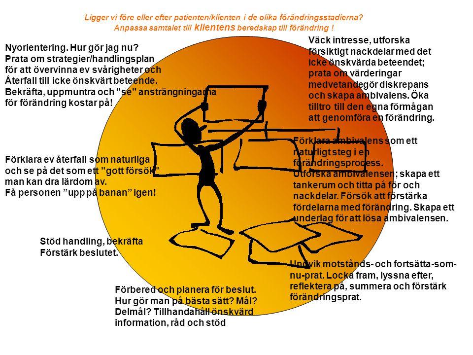 BÖRS - OARS Förändrings prat Bekräftelse Öppna frågor Reflektioner Summeringar © Antonisen & Lidfors 2011