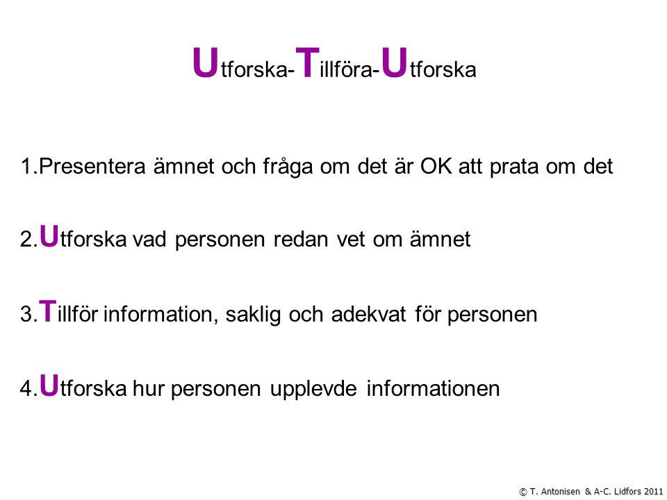 Vilja – Kunna – Redo 0 10 5 © A-C. Lidfors & T. Antonisen 2011