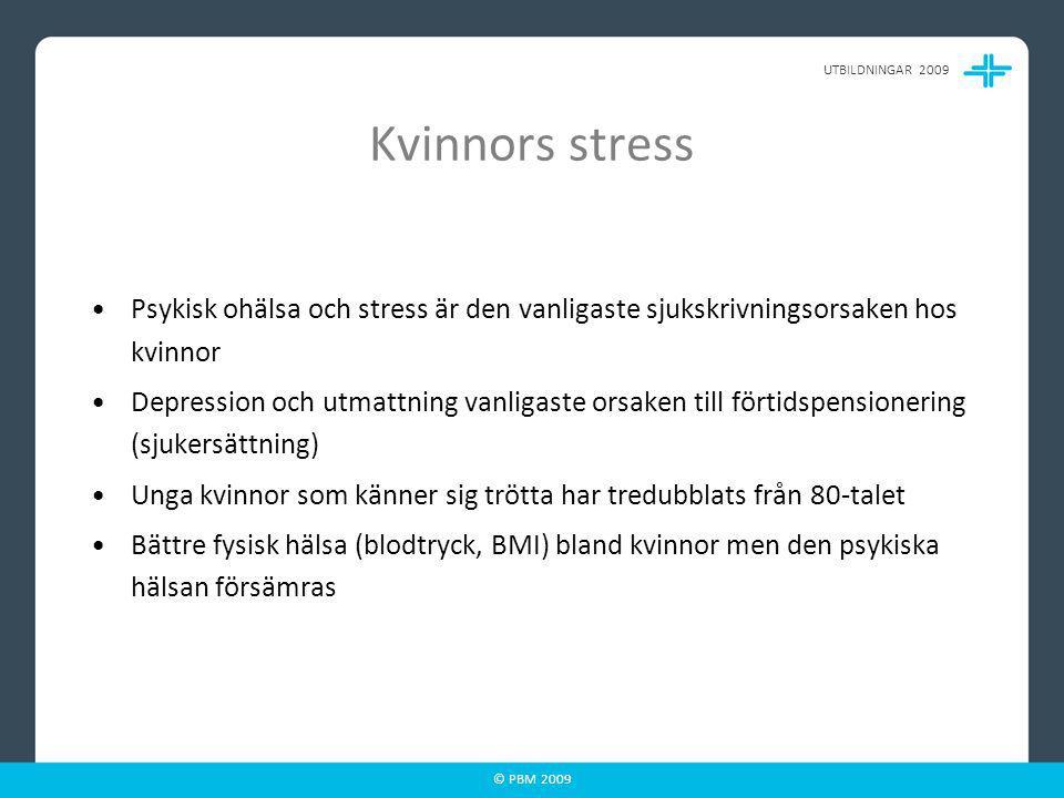 © PBM 2009 Olika åldrar - olika stressfaktorer- Historiskt perspektiv på kvinnorollen!
