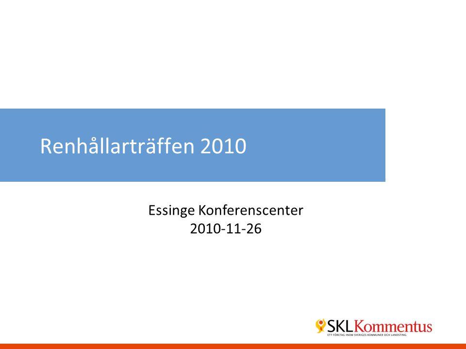 Renhållarträffen 2010 Essinge Konferenscenter 2010-11-26