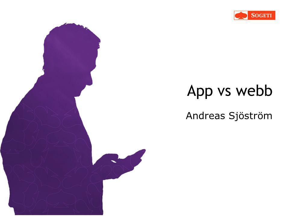 App vs webb Andreas Sjöström