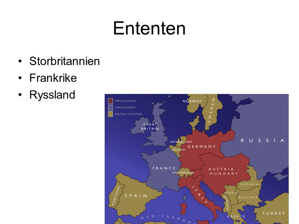 Ententen Storbritannien Frankrike Ryssland