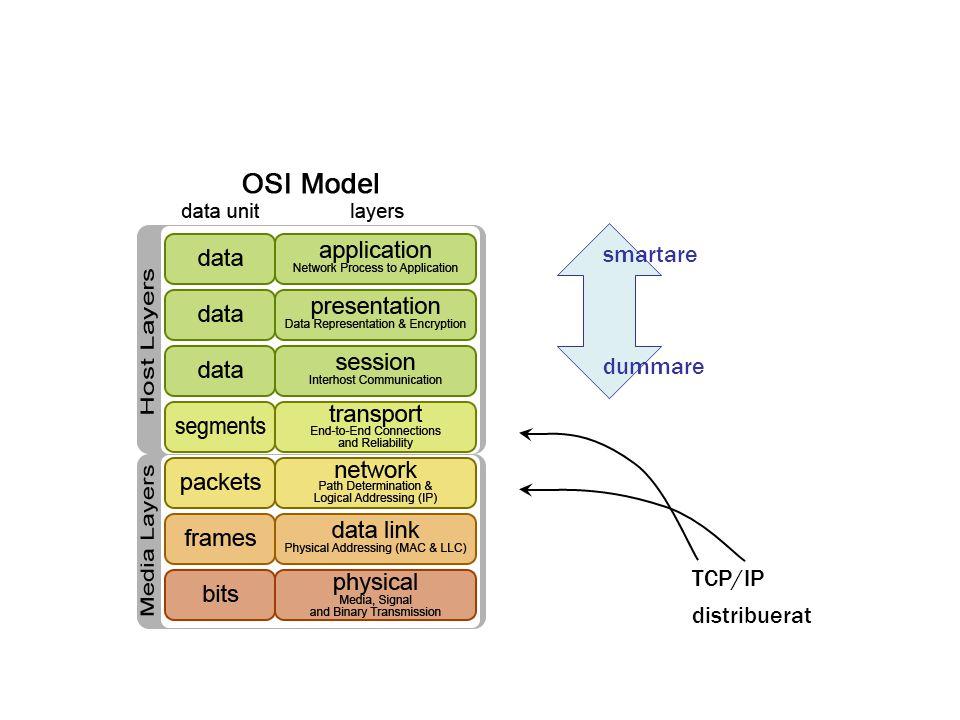 distribuerat TCP/IP smartare dummare