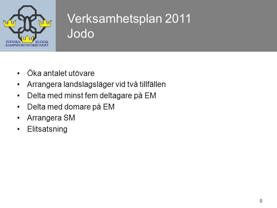 10 Verksamhetsplan 2010 - Utfall Kendo Domarverksamhet.
