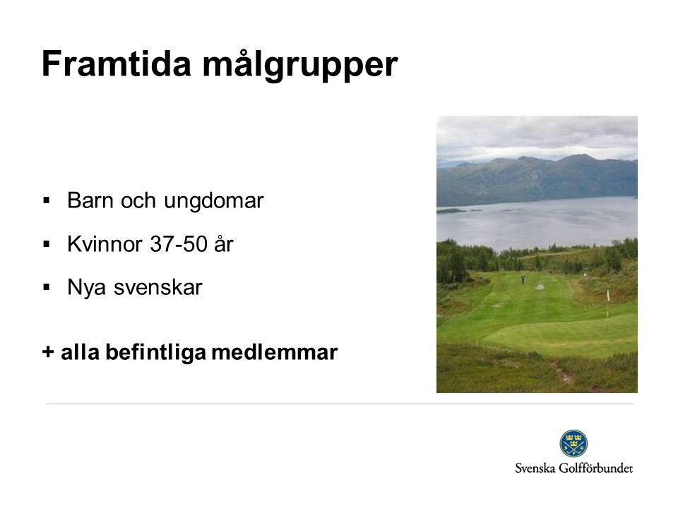 Framtida målgrupper  Barn och ungdomar  Kvinnor 37-50 år  Nya svenskar + alla befintliga medlemmar