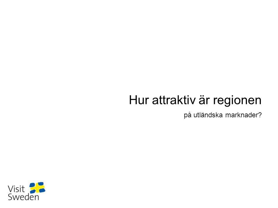 Sv Hur attraktiv är regionen på utländska marknader?
