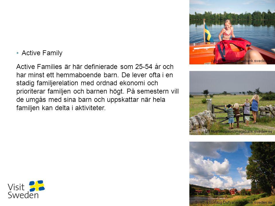 Sv Regioner i Sverige 19 35,7 % Källa: Målgruppsanalyser VisitSweden 2014/GfK