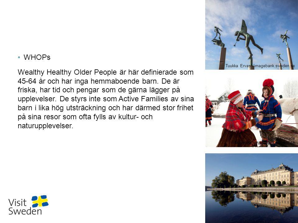 Sv WHOPs Wealthy Healthy Older People är här definierade som 45-64 år och har inga hemmaboende barn. De är friska, har tid och pengar som de gärna läg
