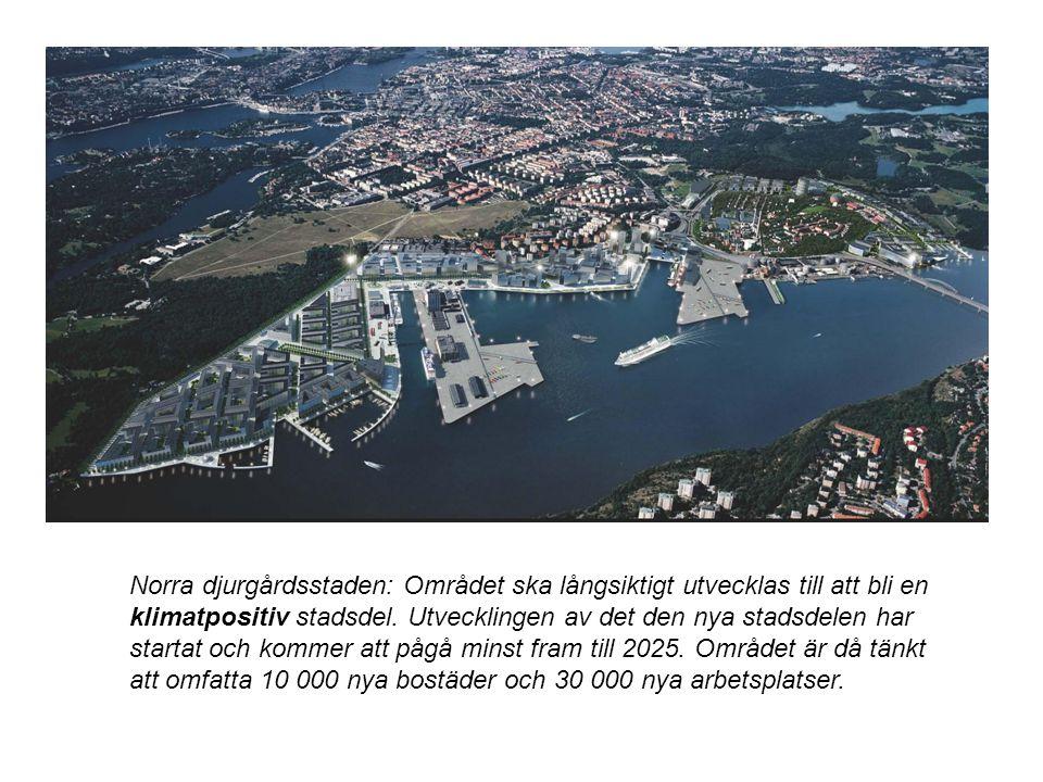 Norra djurgårdsstaden: Området ska långsiktigt utvecklas till att bli en klimatpositiv stadsdel.