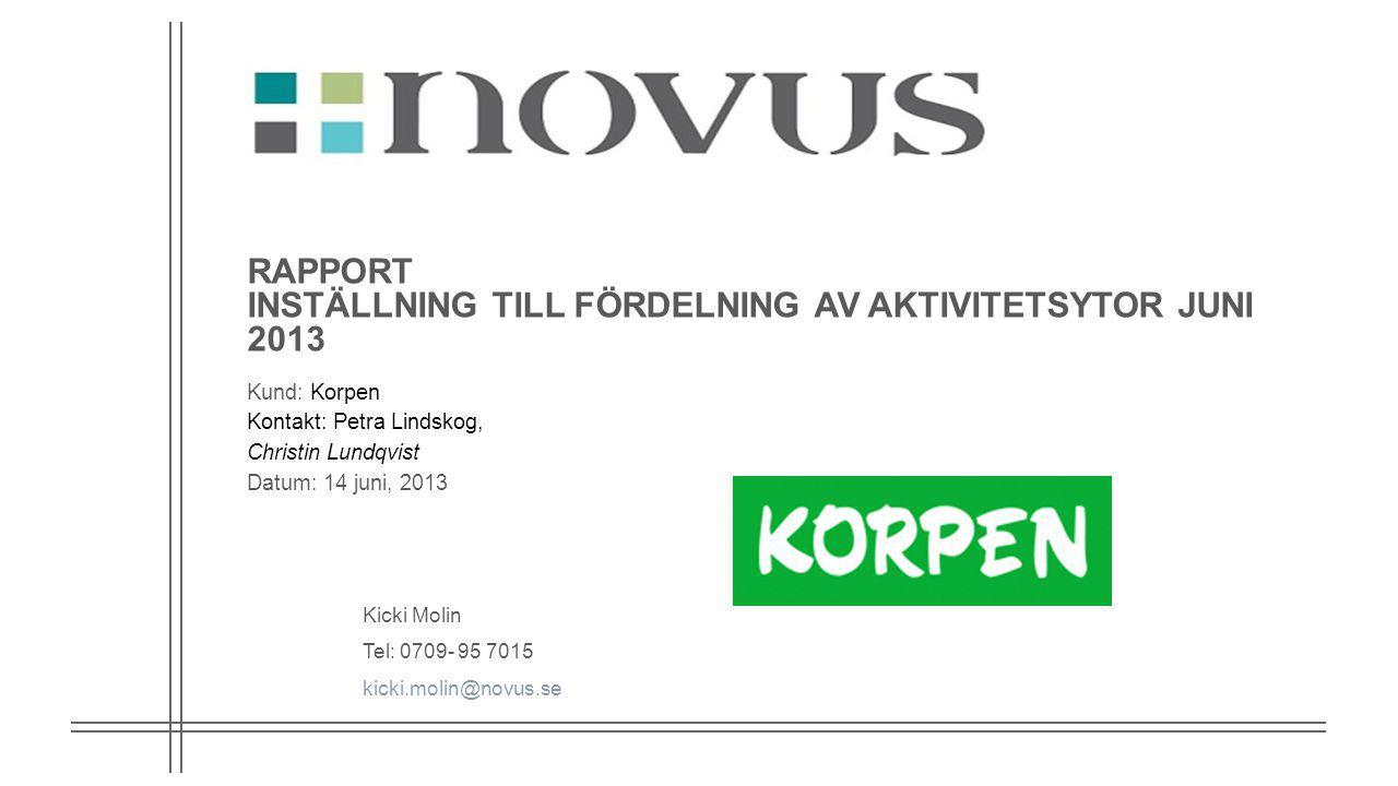 2 Bakgrund och genomförande Bakgrund Korpen Sverige tror att Korpens föreningar har problem med att få tillgång till kommunens lokaler och tror att representanter för kommun och landsting inte förstått Korpens vision.