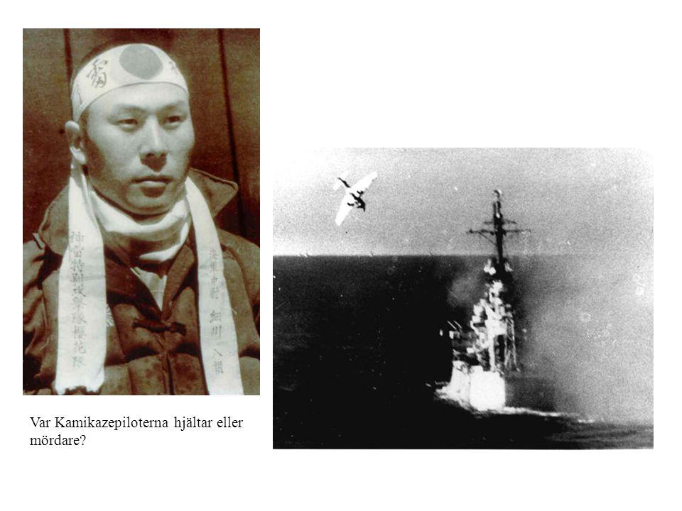 Var Kamikazepiloterna hjältar eller mördare?