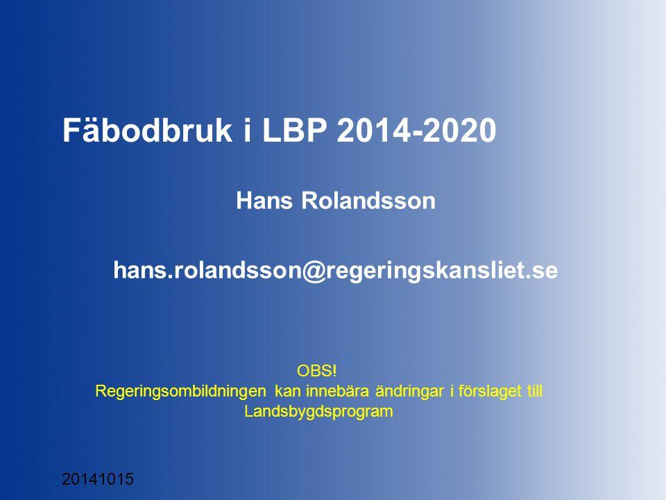 Landsbygdsdepartementet Förgröning Finns tre krav (1307/13 art.