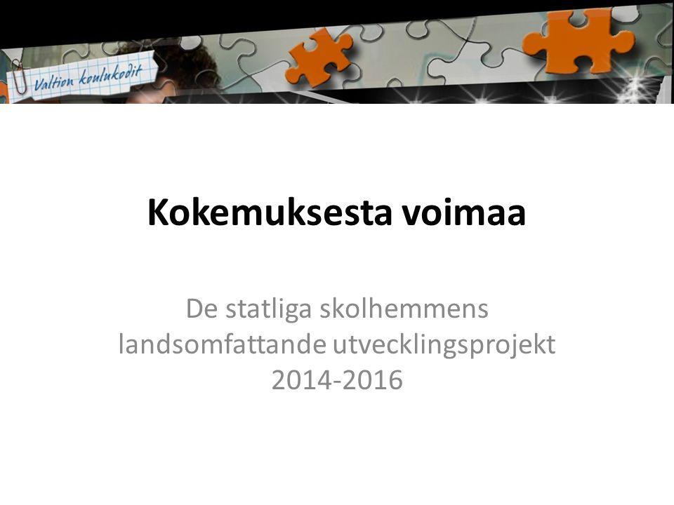 Kokemuksesta voimaa De statliga skolhemmens landsomfattande utvecklingsprojekt 2014-2016
