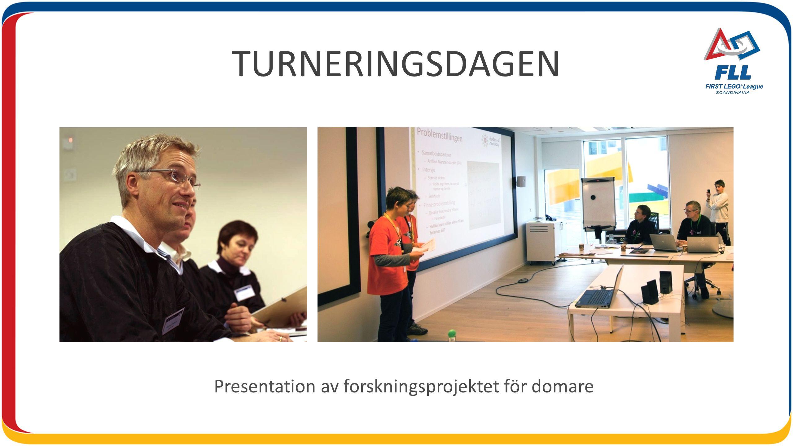 TURNERINGSDAGEN Presentation av forskningsprojektet för domare
