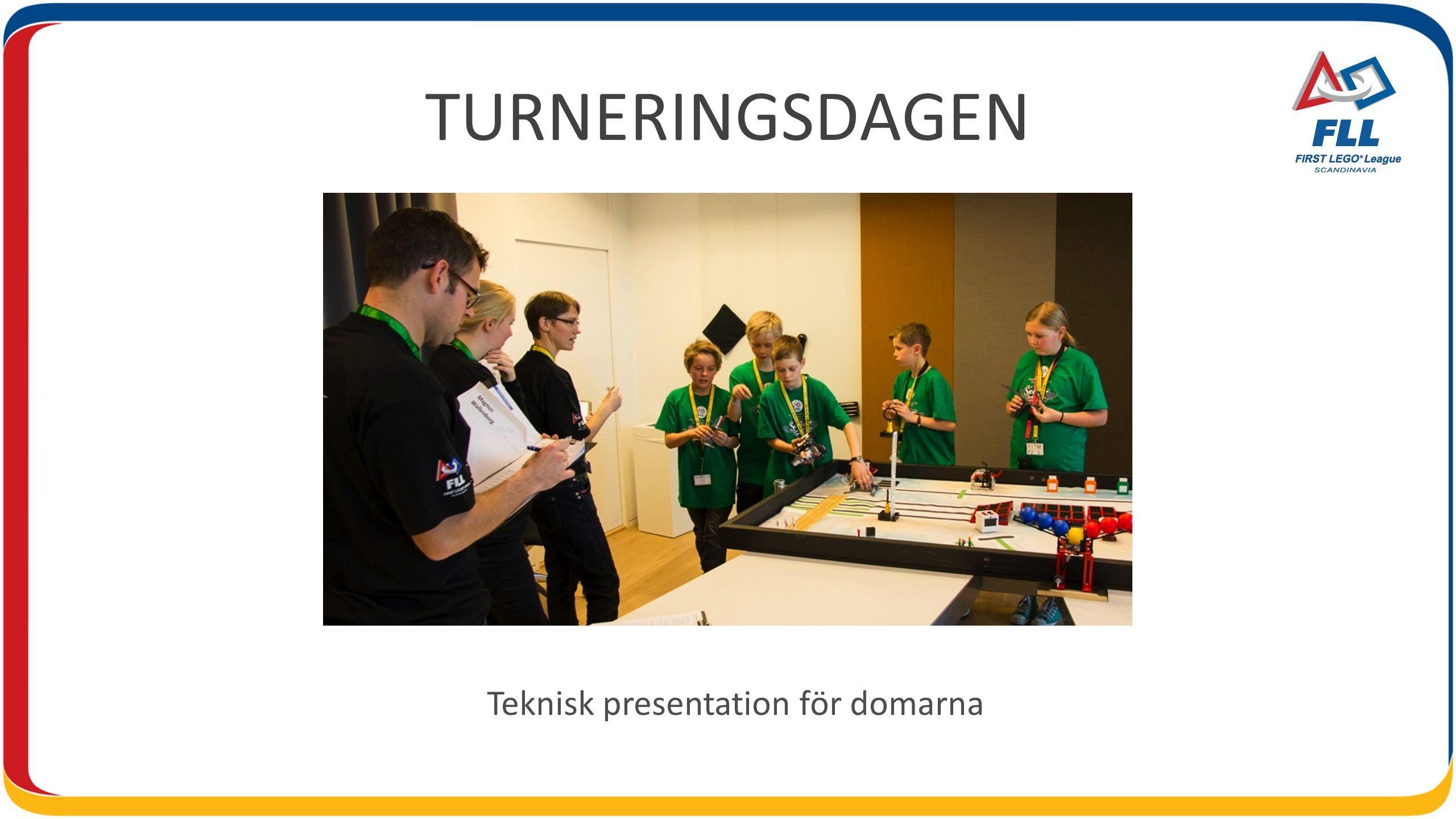 TURNERINGSDAGEN Teknisk presentation för domarna