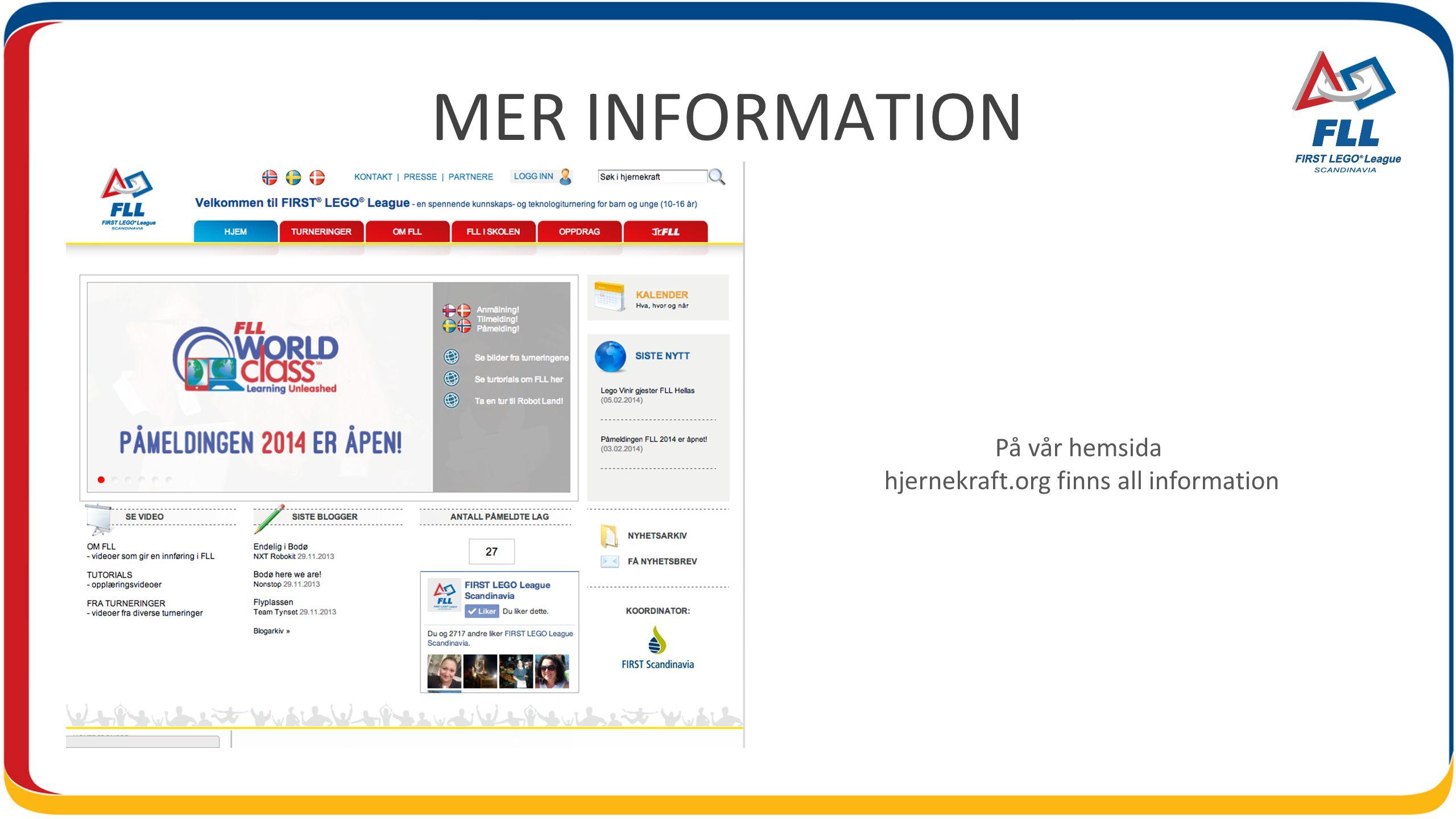 MER INFORMATION På vår hemsida hjernekraft.org finns all information