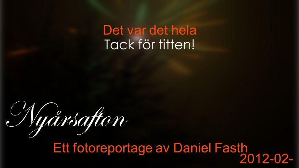 Det var det hela Ett fotoreportage av Daniel Fasth 2012-02- 15 Nyårsafton Tack för titten!