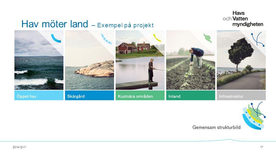 För att ändra/uppdatera/ta bort Presentationsnamn och Namn i foten, gå in på Infoga - Sidhuvud/sidfot Hav möter land – Exempel på projekt 2014-12-1117